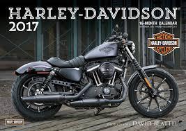 harley davidson r 2017 16 month calendar september 2016 through