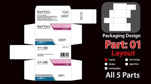 Box Design Template Illustrator Packaging Layout Design Tutorial Illustrator 2017 I Medicine Packaging Design Part 01