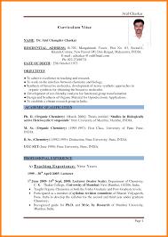 Teacher Resume Format Educational Resume Template Fresher Teacher