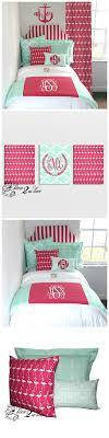 Mint and Hot Pink Anchors Nautical Designer Teen Girl & Dorm Room Bedding  Set