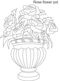 Disegni Vasi Di Fiori Da Colorare 2