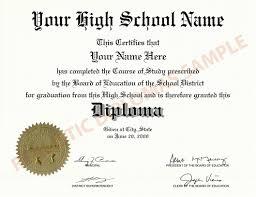 High School Deploma Fake High School Diploma Realistic Diplomas