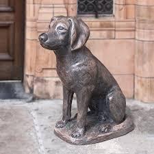 labrador dog garden statue 23 h chocolate images