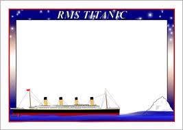 titanic a page borders sb sparklebox titanic a4 page borders sb4579 sparklebox
