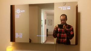 another smart mirror post tutorial mostly finished using 32 hdtv two way mirror and raspberry pi i was inspired by the recent mirror