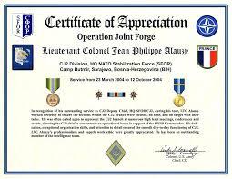 Sample Certificate Of Appreciation Editable Army Example National Best Examples Of Certificates Of Appreciation Wording