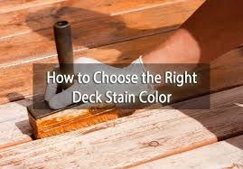 to choose the right deck stain color