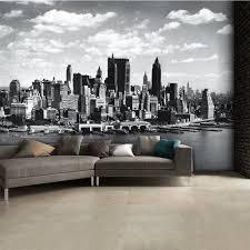new york skyline wallpaper black and white 207747