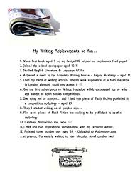 my writing achievements i hope there will be many more to come my writing achievements i hope there will be many more to come