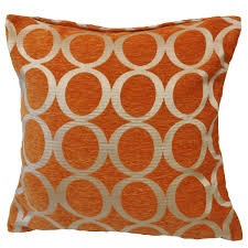 oh filled cushion orange  cheap cushions  throws  uk delivery