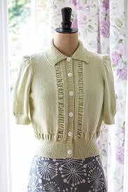 Vintage Knitting Patterns Delectable Vintage Short Sleeved Cardigan Knitting Pattern The Knitting Network