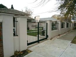 metal fence designs. Fine Fence Brick And Metal Fence Fences Wall Designs Or By  And Metal Fence Designs