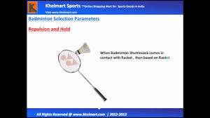 Yonex Badminton Racket Selection Guide