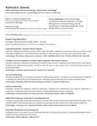 Instructional Design Resume Instructional Design Resume Examples Instructional Designer Resume