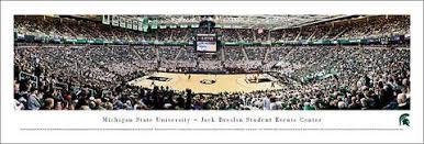 Michigan State Spartans Basketball Breslin Center Game Night Panoramic Poster Blakeway