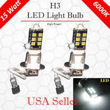 Details About 4x H3 15w Canbus High Power For Fog Driving Drl Led Light Bulb Lamp Bright White