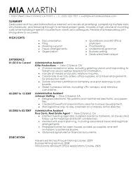 Examples Of Administrative Resumes Stunning Administrative Resume Objective Examples Office Assistant Clerical