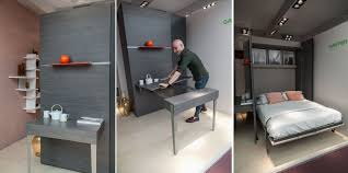 expandable furniture. 50 Awesome Furniture Designs Inspired By Small Spaces : Gautier Smart Wall Bed And Expandable P