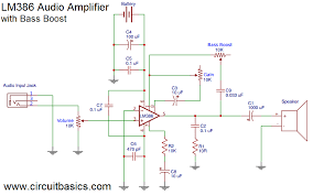 build a great sounding audio lifier with b boost from the lm386 lifier here s the wiring diagram