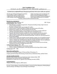 Property Manager Resume Sample Free Resume Templates