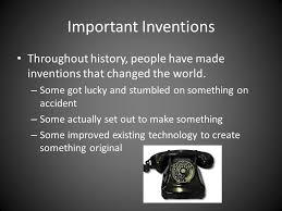 Bellringer 29 What Do You Think Is The Most Important Invention Of