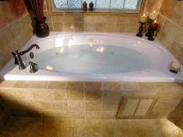 modern bathroom with romantic jacuzzi tubs