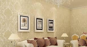 modern 3d embossed white beige blue chocolate background damask wallpaper sofa tv backdrop living room wallpaper