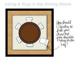 round rugs under dining table how to choose the right size rug decorate within what under dining room table design