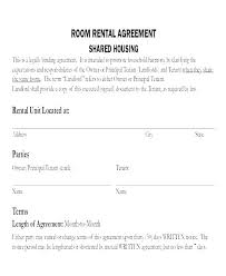 Standard Rental Agreement Template Rental Property Lease Template Lease Agreement Templates Lease