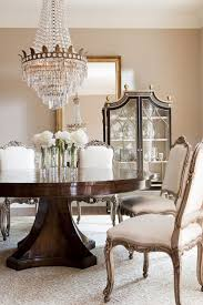 ebanista lighting. 25 Inspiring Neutral Dining Room Designs : With White Chairs And Luxurious Chandelier Wooden Table Ebanista Lighting