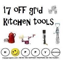 Off grid kitchen (<b>manual kitchen tools</b>)