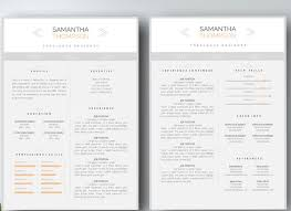 Gallery Of Professional Two Page Resume Set Resume Templates