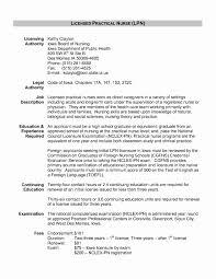New Grad Rn Resume With No Experience Fresh Sample Lpn Resume Skills