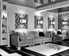 Интерьер кухни гостиной черно-белый