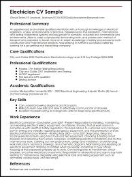 sample cv template electrician cv sample myperfectcv