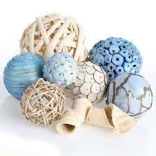 Decorative Bowl Filler Balls Coastal Inspired Botanical Bowl Fillers Coastal Decor Home Decor 17