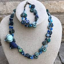 Catimini Necklace Bracelet Blue Bead Set