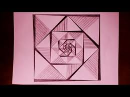 How To Draw A Geometrical Chart How To Draw Easy Geometric Square Patterns Painting