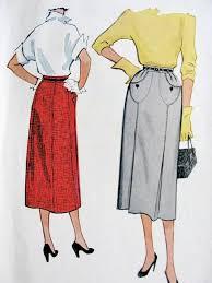 Skirt Patterns With Pockets Adorable 48s SLIM SKIRT PATTERN UNIQUE FRONT POCKETS McCALLS 48 VINTAGE