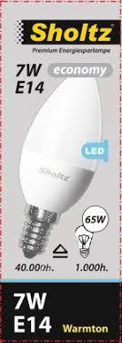 <b>Лампа светодиодная SHOLTZ</b> свеча 7W E14 3000К 220V пластик ...
