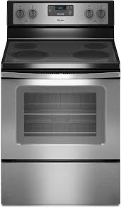 whirlpool wfe320m0es 30 inch freestanding electric range with 4 radiant elements 3 000 watts 4 8 cu ft traditional oven easy wipe ceramic glass cooktop