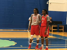 olympics photo essay from usa basketball practice sylvia fowles and tina charles share a laugh between plays gabrielle levine excelle sports