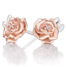 chamilia swarovski disney beauty the beast belle rose earrings