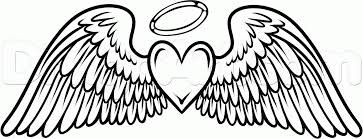 Small Picture heart with angel wings coloring pages images about alas on