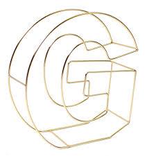 Soft Gold Wire Letter G 15cm Hobbycraft