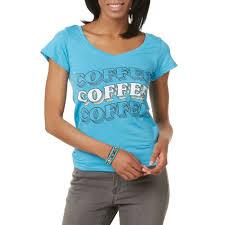 Joe Boxer Juniors Graphic T Shirt Coffee Size