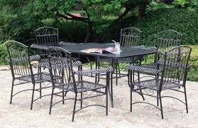 black wrought iron patio furniture. black wrought iron patio furniture with rectangle table and 6 person chairs t