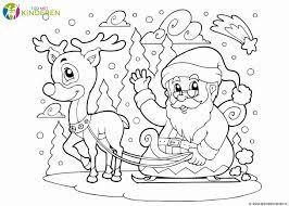 Kerstman Rendier Kleurplaat Kleurplaat Voor Kinderen