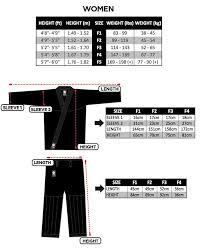 Flow Kimonos Size Chart Bjj Flow Chart