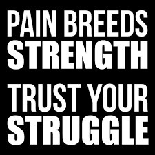 Pain Breeds Strength Gym Fitness Quote By Maniacfitness Redbubble